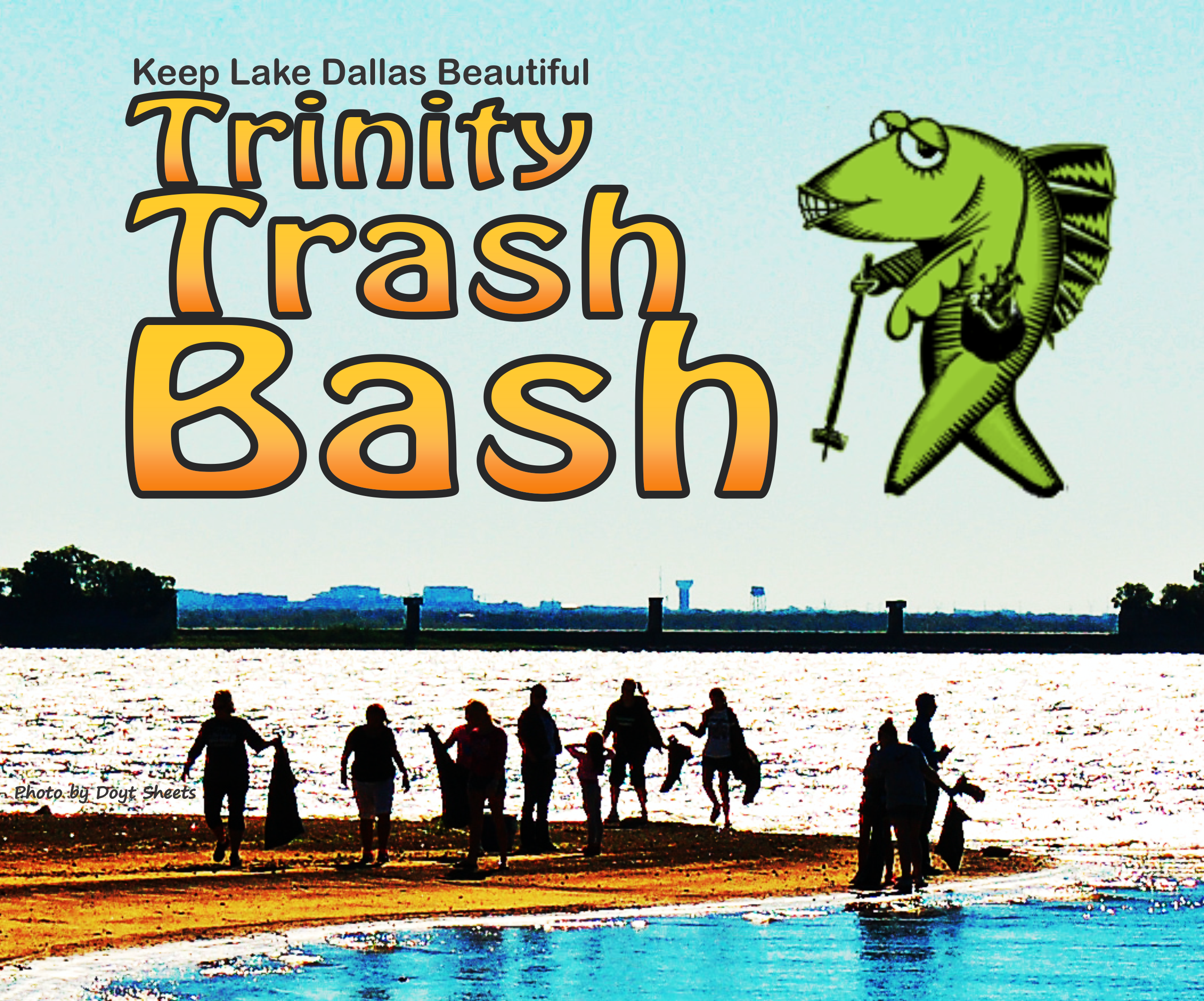 Keep Lake Dallas Beautiful Trinity Trash Bash logo