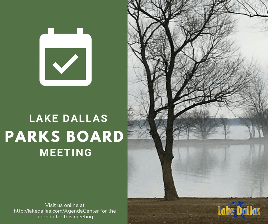 Parks Board Meeting Announcement