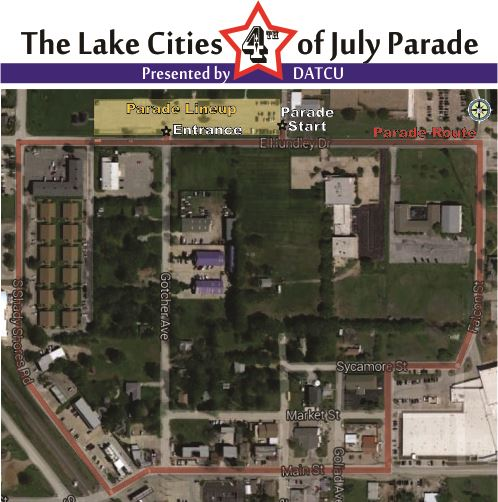 4th of July Parade Route 2016