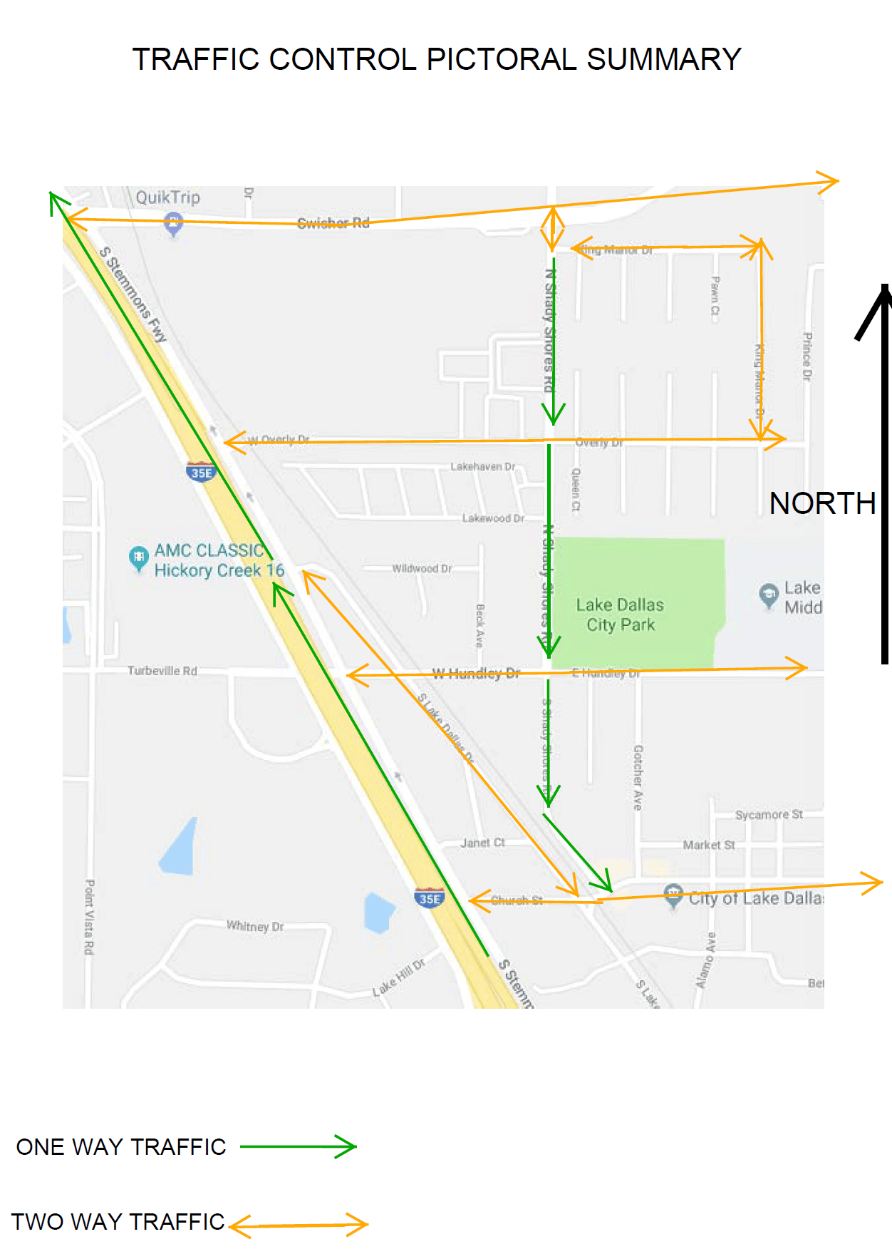 Shady Shores Closure Map
