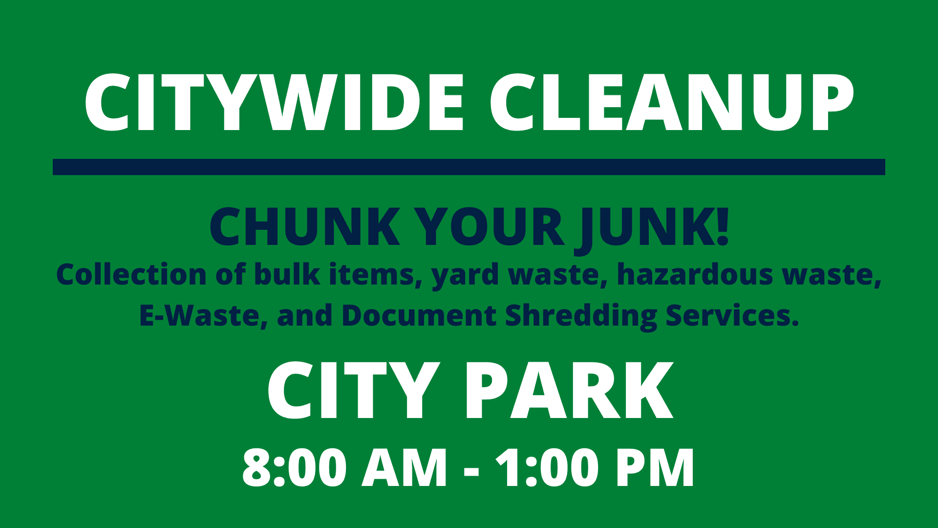 Citywide Cleanup