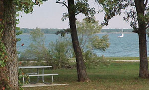 Park Overlooking Lake Lewisville